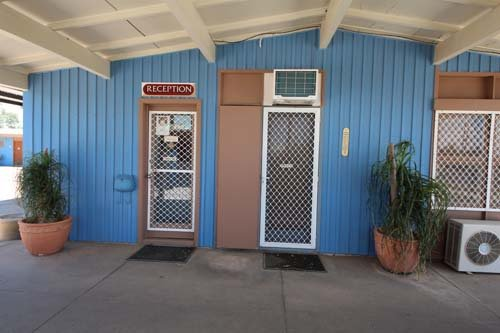 Entry to the reception of the motel