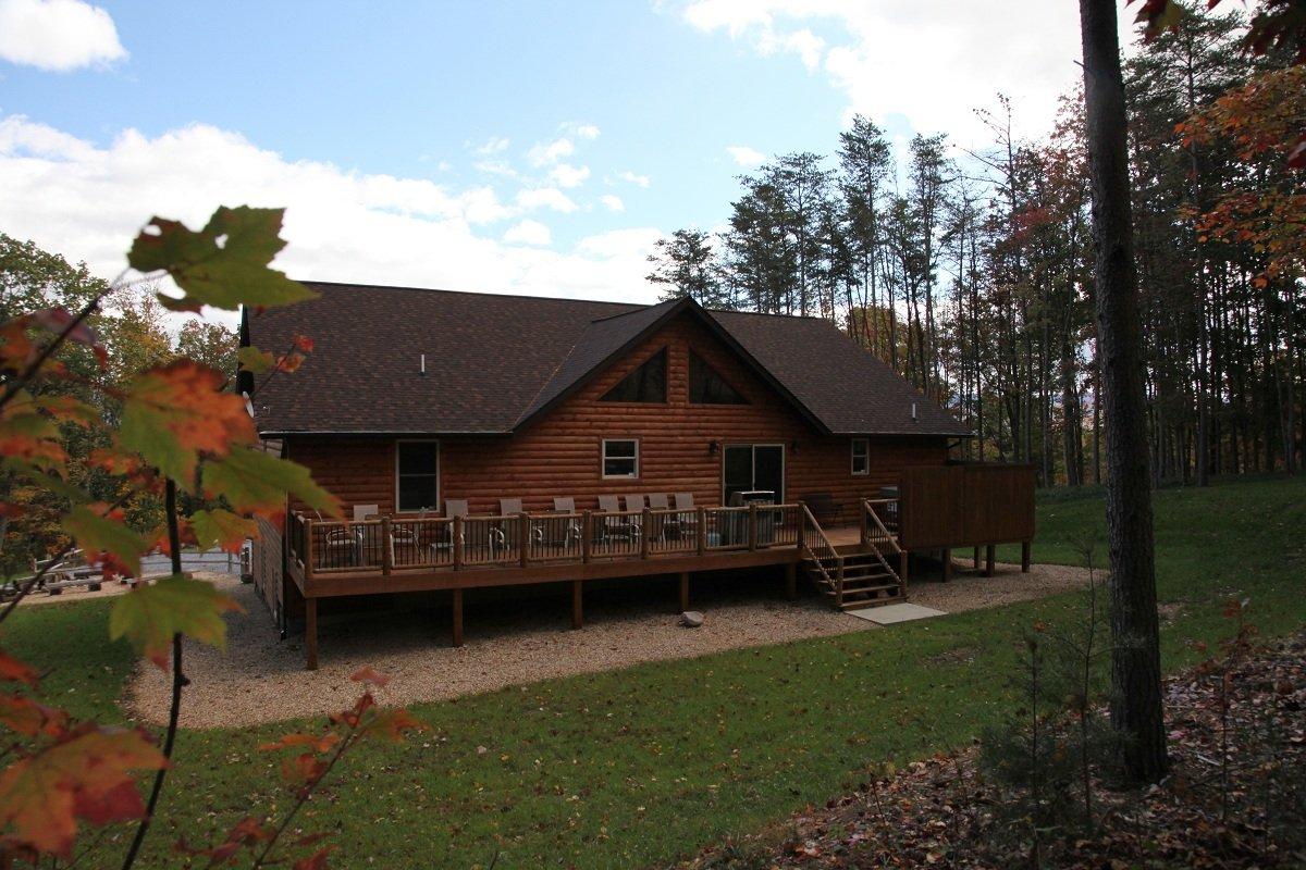Ape cabin 4 shenandoah valley luray va mountain vacation for Log cabins in shenandoah valley