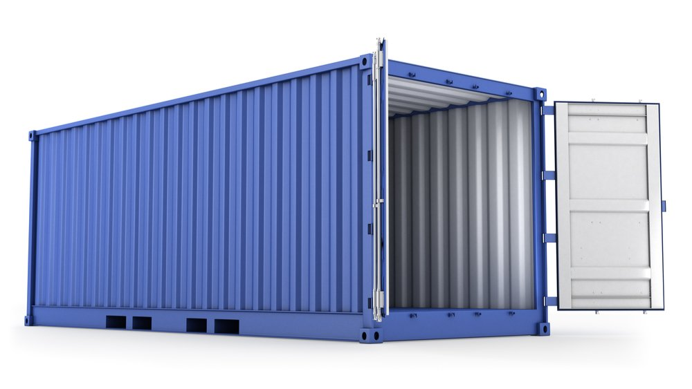 Blue 20ft shipping container