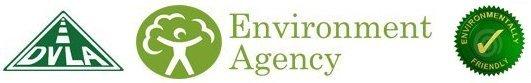 Environment Agency, DVLA and Environmentally friendly icons