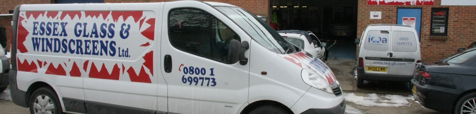 Essex Glass & Windscreens van outside their offices in Chelmsford