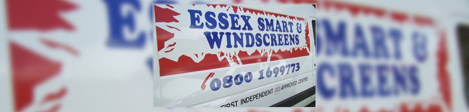 Essex SMART & Windscreen sign on van.
