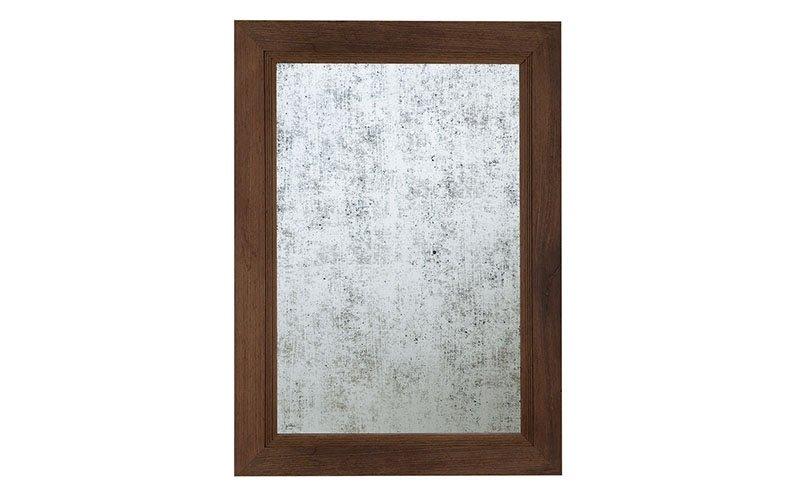 specchio antico foglia argento