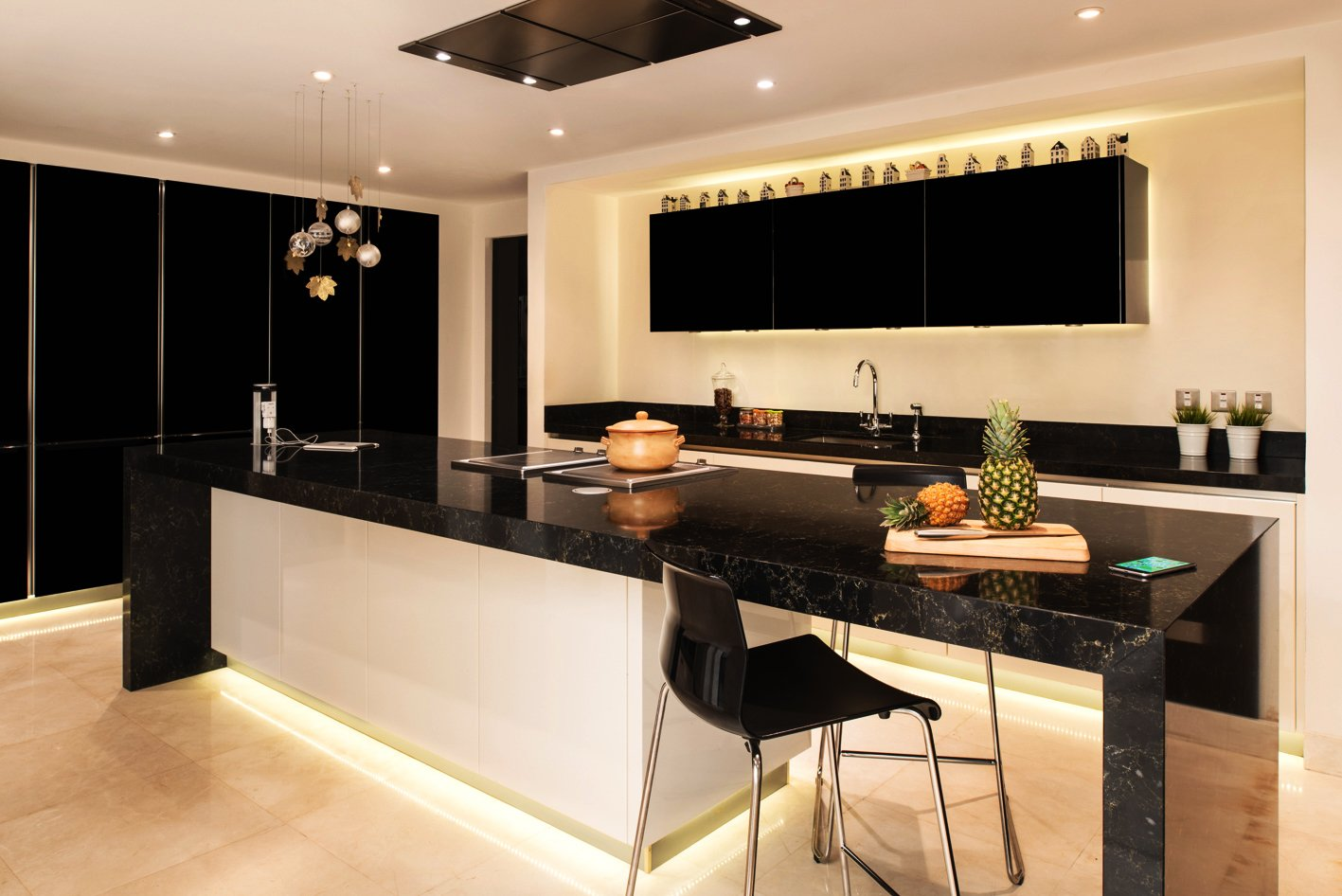 Beautiful big kitchen white modern design