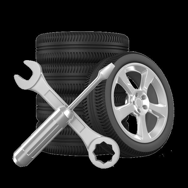 icona pneumatici e attrezzi da meccanico