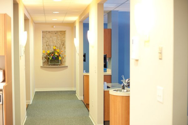 hallway of dentist office