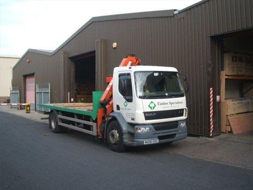 timber transportation truck
