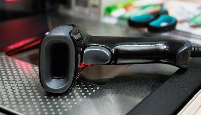 black hand scanner