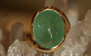 anello smeraldo cabochon