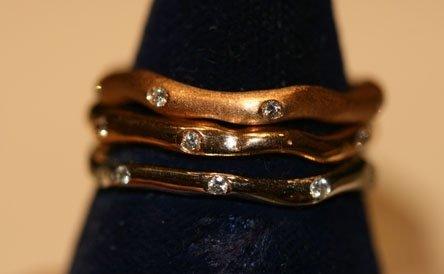 fedine oro rosso giallo biaco con diamanti