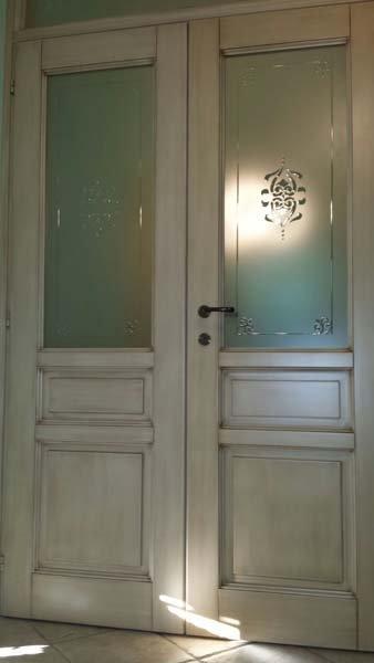 porta bianca stile rustico