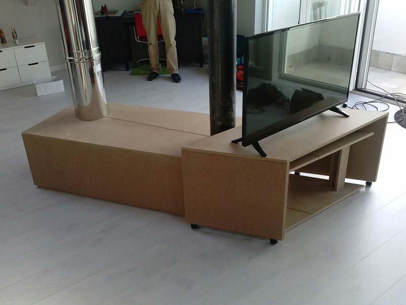 mobile soggiorno in legno