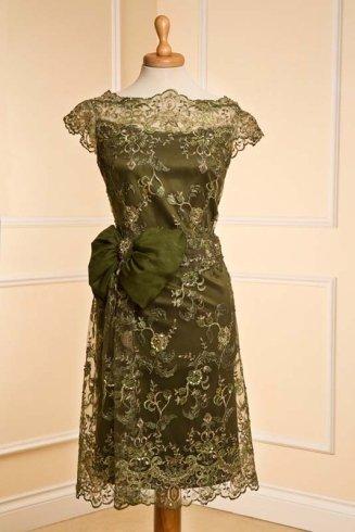 abito da cerimonia verde oliva