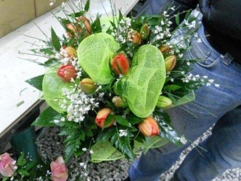 composizione floreale per bouquet
