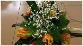 composizione con tulipani