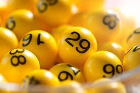 yellow balls with number on it