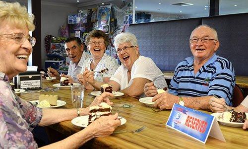 Group of seniors playing bingo