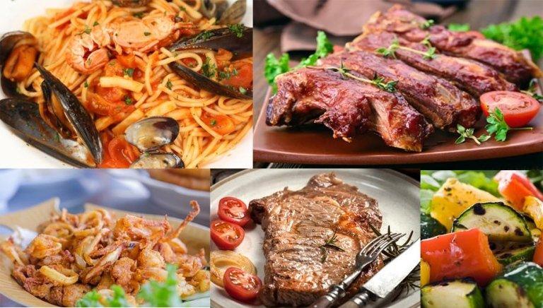 cucina romagnola, ristorante, piatti, carne, pesce