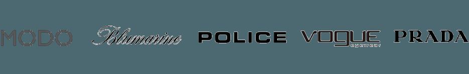 loghi modo, blumarine, police, vogue, prada