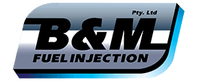 b and m fuel injection logo
