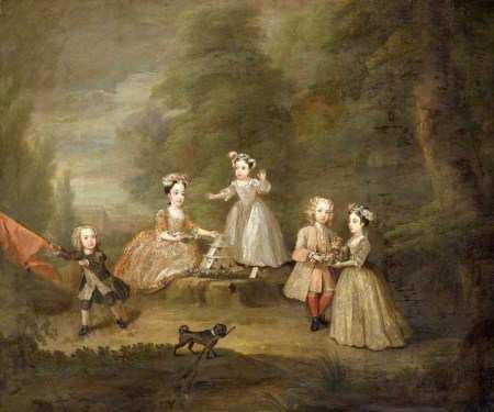 Black Pug dog from 18th century