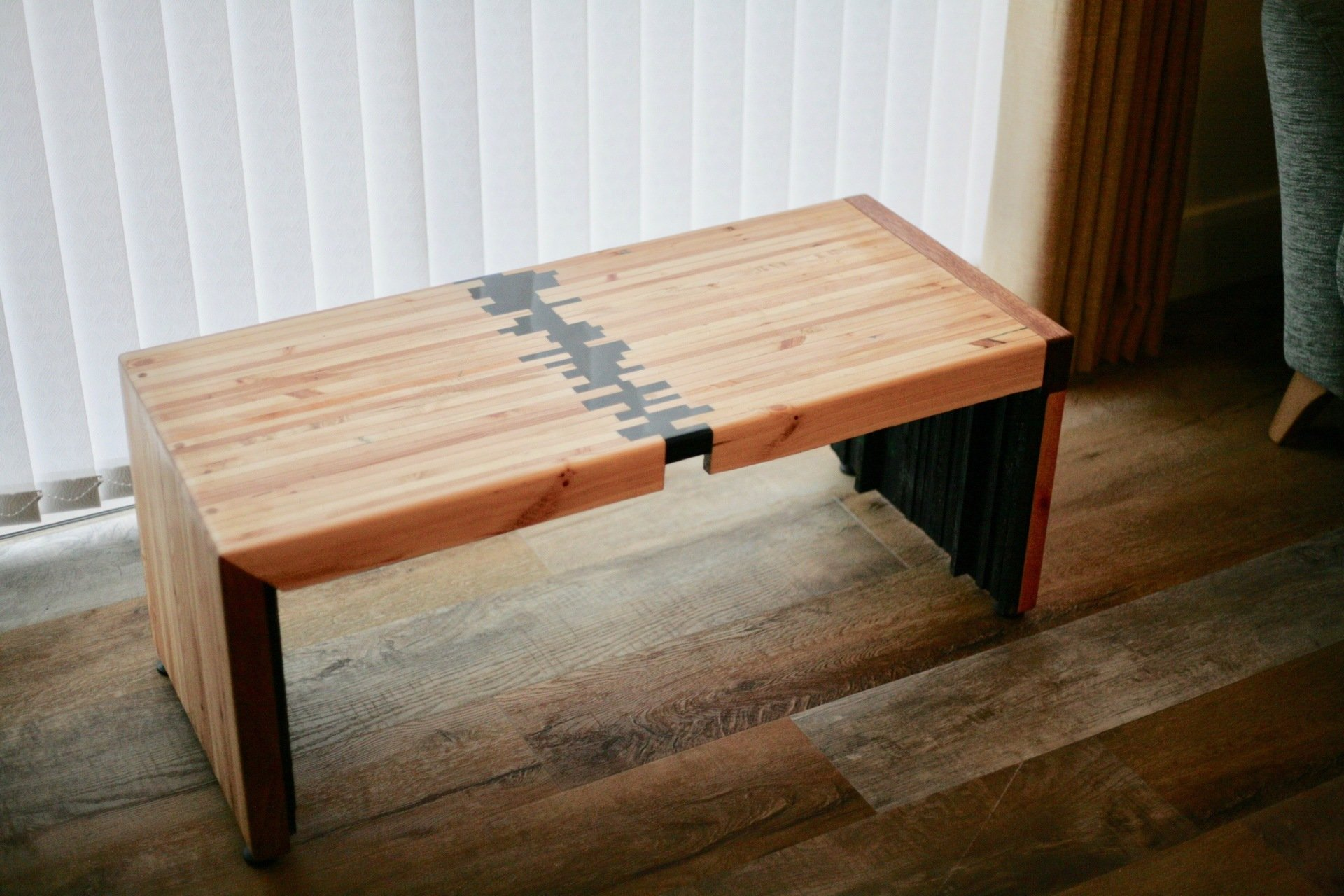 Recycled Pallet Wood and Resin Coffee Table