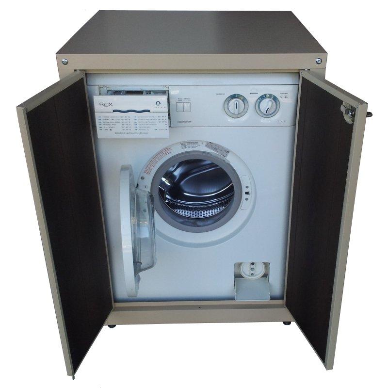 Copertura per lavatrice elegant colonna porta lavatrice e fronte lucido bianco con maniglie - Lavatrice da esterno ...