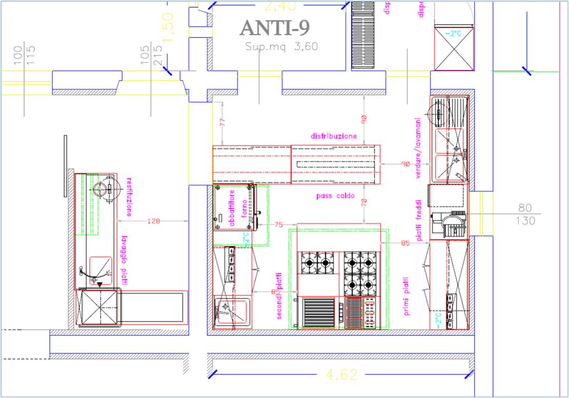 Installazione di mobili siena si chiantini alfio e c snc - Dimensioni minime cucina bar ...