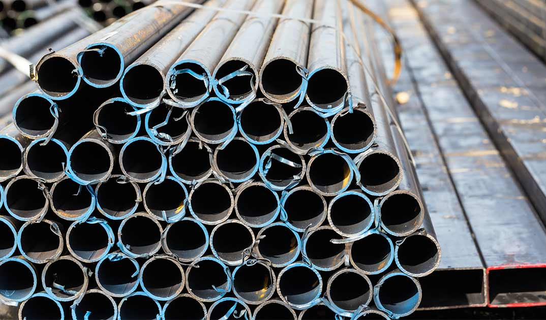 pabani metals stack of steel pipes