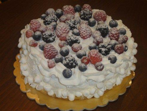 Torta de meringa con fragoline