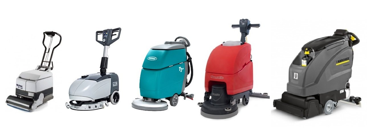 floor cleaners in various colours