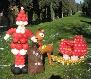 personaggi creati con palloncini