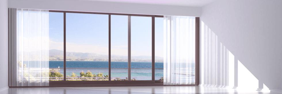 infissi in alluminio e vetrate