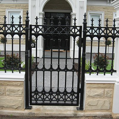 classic fencing sliding gate with side panel