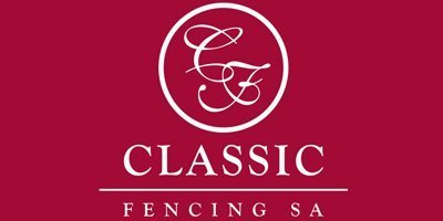 classic fencing business logo