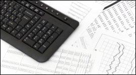 grafico economico, tastiera