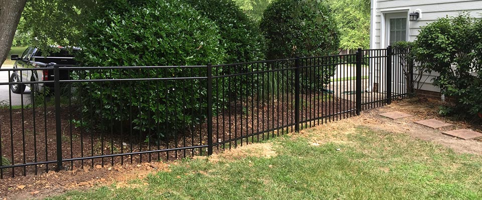 Aluminum Fence Installed in Backyard