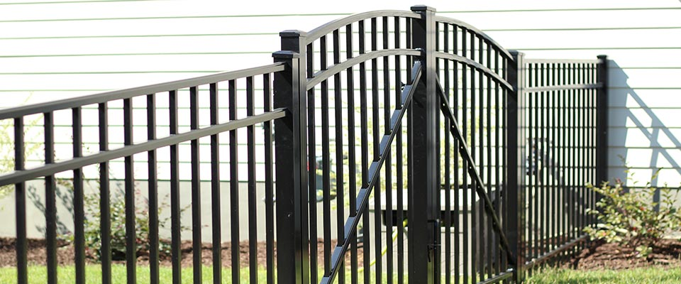 Gated Custom Aluminum Fence