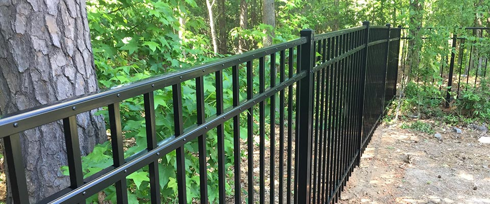 Custom Black Aluminum Fence