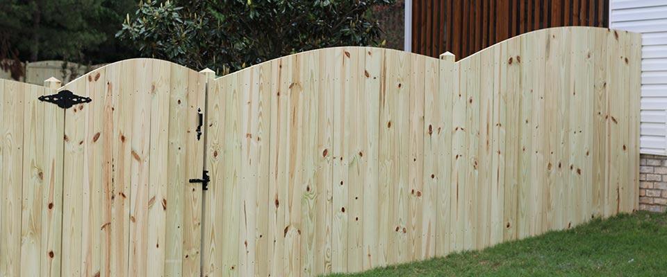 Custom Scalloped Wooden Fence