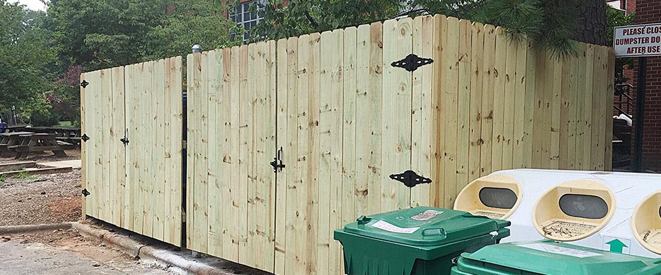 Commercial Custom Wooden Fence