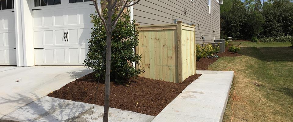 Custom Wooden Fence Enclosure