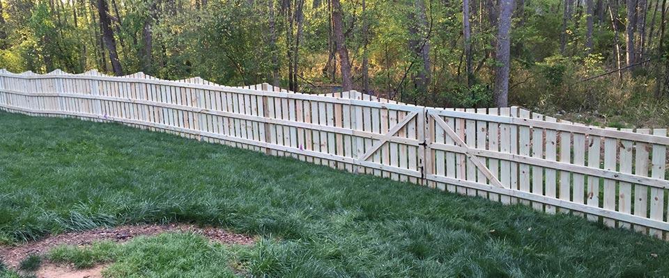 Custom Wooden Fence for Back Garden