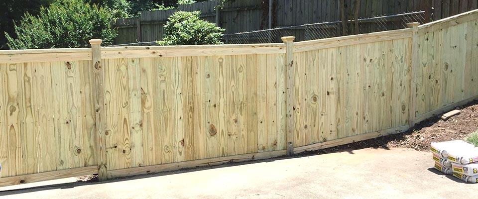 Custom Residential Wooden Yard Fence