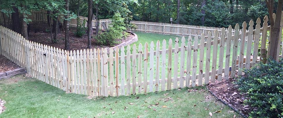 Custom Wooden Picket Fence
