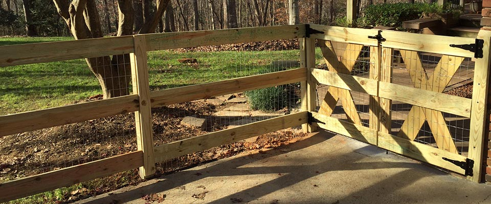 Custom Wooden Ranch Style Fence