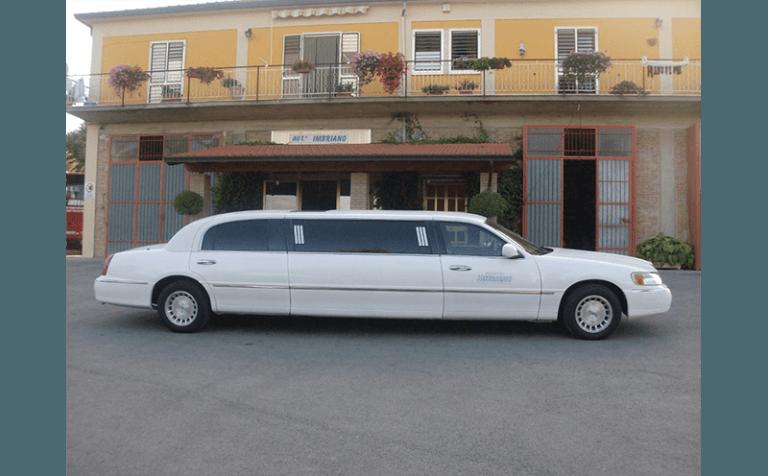 vista laterale limousine