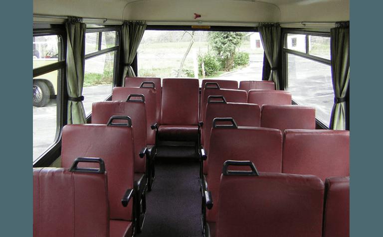 dettaglio interni minibus