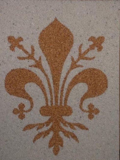 Dettaglio pavimento decorato
