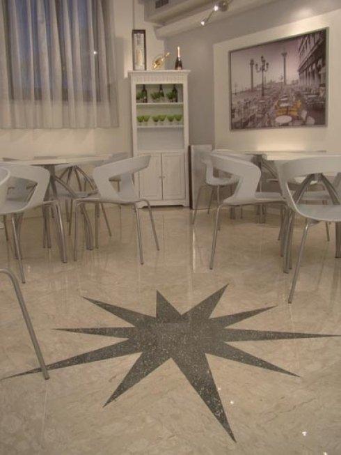 Pavimenti per ristoranti in Crystalfloor